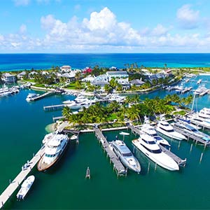 Bakers Bay Marina in Abaco, Bahamas