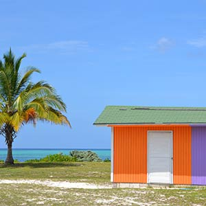 Aerial view of Acklins, Bahamas