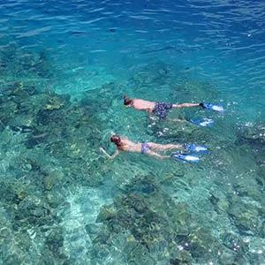 Snorkeling at Acklins, Bahamas