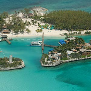 Aerial view of the Berry Islands, Bahamas