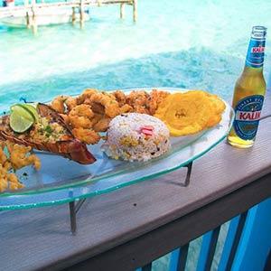 Beach-side restaurant in Bimini, Bahamas