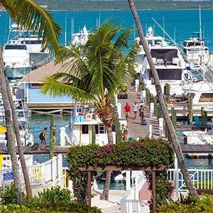 Marina on Eleuthera, Bahamas
