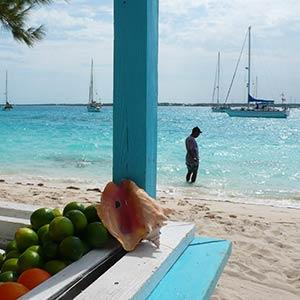 Stocking island in the Exumas, Bahamas