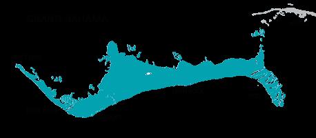 Map of Grand Bahama, Bahamas