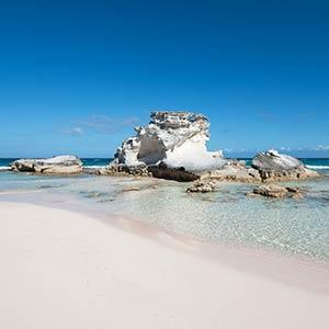 Beach on Long Island, Bahamas