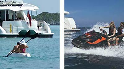 Rent a yacht for a day and have fun on the water toys