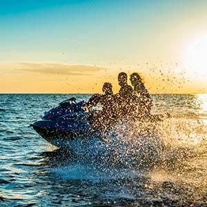 Family ride on a Jet Ski