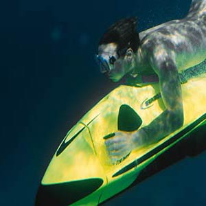 Underwater exploring using a Seabob