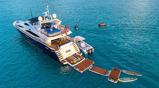 Charter Yacht Kefi Toys